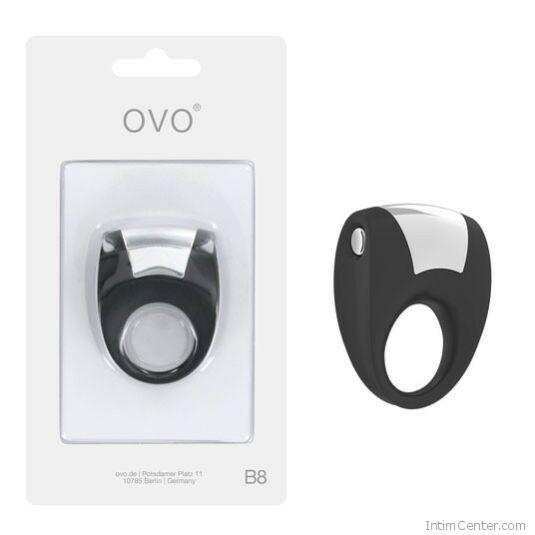 Vibrátoros péniszgyűrű, klasszul kielégítő dizájnos Ovo B8