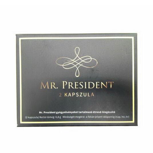 Potencianövelő kapszula Mr President 2 db